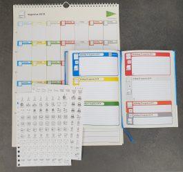 Prikkelarme schoolagenda+ pictostickers + kalender – 2019-2020