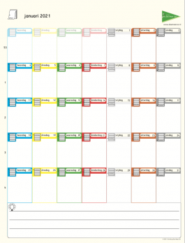 Prikkelarme kalender 2021